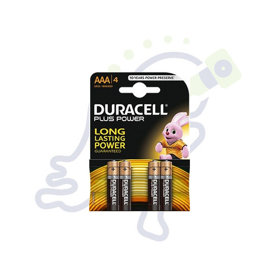 Duracell Plus Power AAA batterijen 4 stuks