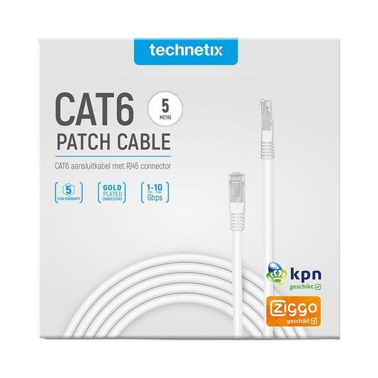 Technetix Cat6 netwerkkabel 5 meter wit