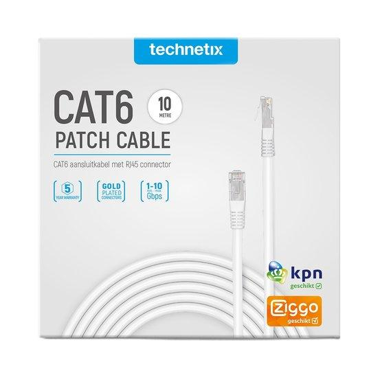 Technetix Cat6 netwerkkabel 10 meter wit