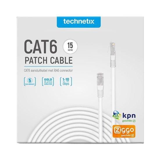 Technetix Cat6 netwerkkabel 15 meter wit