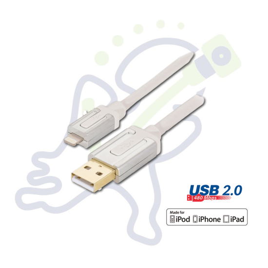 Profigold PROM105 Apple Lightning USB data en oplaadkabel 2m