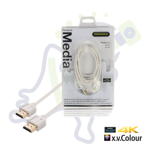 Profigold High Speed HDMI kabel met ethernet Wit 2 meter