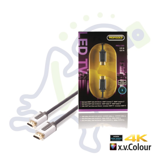 Profigold PROL1202 High Speed HDMI kabel met ethernet 2m